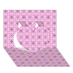 Cute Seamless Tile Pattern Gifts Heart 3d Greeting Card (7x5)
