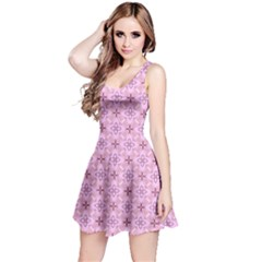 Cute Seamless Tile Pattern Gifts Reversible Sleeveless Dresses