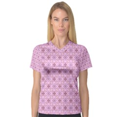 Cute Seamless Tile Pattern Gifts Women s V-Neck Sport Mesh Tee