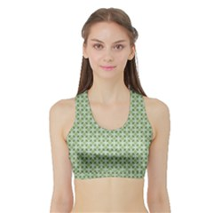 Cute Seamless Tile Pattern Gifts Women s Sports Bra with Border
