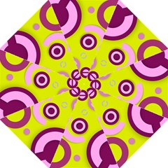 Florescent Yellow Pink Abstract  Straight Umbrellas