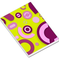 Florescent Yellow Pink Abstract  Large Memo Pads