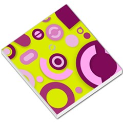 Florescent Yellow Pink Abstract  Small Memo Pads