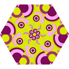 Florescent Yellow Pink Abstract  Mini Folding Umbrellas