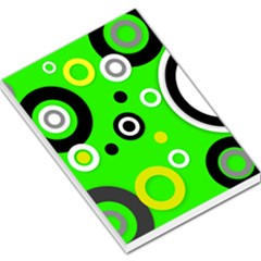 Florescent Green Yellow Abstract  Large Memo Pads