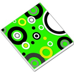 Florescent Green Yellow Abstract  Small Memo Pads
