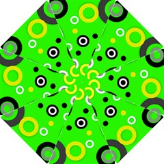 Florescent Green Yellow Abstract  Hook Handle Umbrellas (Small)