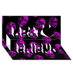 Purple Skulls  Best Friends 3D Greeting Card (8x4)