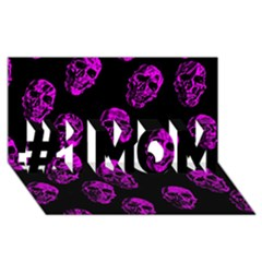 Purple Skulls  #1 Mom 3d Greeting Cards (8x4)
