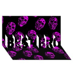 Purple Skulls  BEST BRO 3D Greeting Card (8x4)