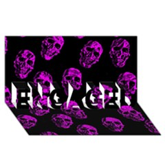 Purple Skulls  ENGAGED 3D Greeting Card (8x4)