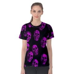 Purple Skulls  Women s Cotton Tees