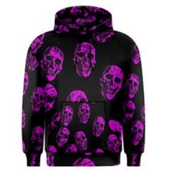 Purple Skulls  Men s Pullover Hoodies