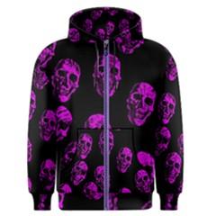 Purple Skulls  Men s Zipper Hoodies