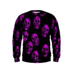 Purple Skulls  Boys  Sweatshirts