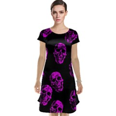 Purple Skulls  Cap Sleeve Nightdresses