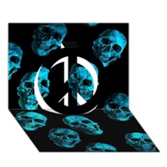 Skulls Blue Peace Sign 3D Greeting Card (7x5)