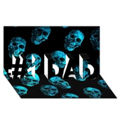 Skulls Blue #1 DAD 3D Greeting Card (8x4)