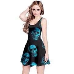 Skulls Blue Reversible Sleeveless Dresses