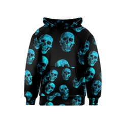 Skulls Blue Kid s Pullover Hoodies