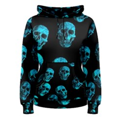 Skulls Blue Women s Pullover Hoodies