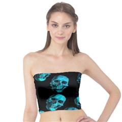 Skulls Blue Women s Tube Tops