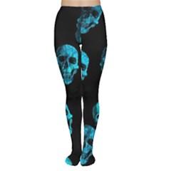 Skulls Blue Women s Tights