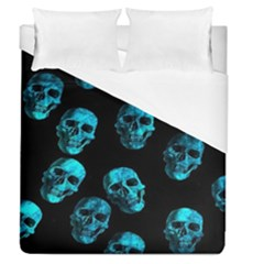 Skulls Blue Duvet Cover Single Side (full/queen Size)