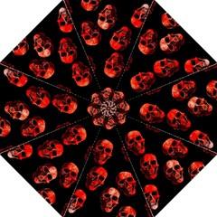 Skulls Red Straight Umbrellas