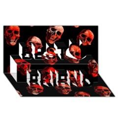 Skulls Red Best Friends 3D Greeting Card (8x4)