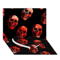 Skulls Red Heart Bottom 3d Greeting Card (7x5)
