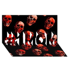 Skulls Red #1 MOM 3D Greeting Cards (8x4)
