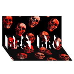 Skulls Red BEST BRO 3D Greeting Card (8x4)
