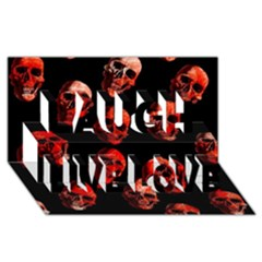 Skulls Red Laugh Live Love 3D Greeting Card (8x4)