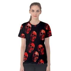 Skulls Red Women s Cotton Tees