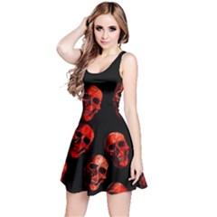 Skulls Red Reversible Sleeveless Dresses