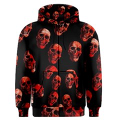 Skulls Red Men s Zipper Hoodies