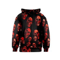 Skulls Red Kids Zipper Hoodies