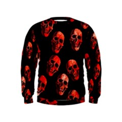Skulls Red Boys  Sweatshirts