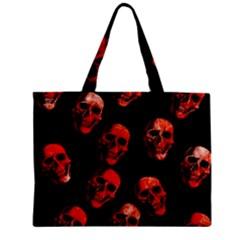 Skulls Red Zipper Tiny Tote Bags