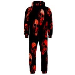 Skulls Red Hooded Jumpsuit (Men)