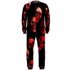 Skulls Red OnePiece Jumpsuit (Men)