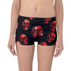 Skulls Red Boyleg Bikini Bottoms