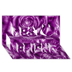 Gorgeous Roses,purple  Best Friends 3D Greeting Card (8x4)