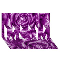 Gorgeous Roses,purple  MOM 3D Greeting Card (8x4)