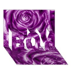 Gorgeous Roses,purple  BOY 3D Greeting Card (7x5)