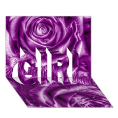 Gorgeous Roses,purple  GIRL 3D Greeting Card (7x5)