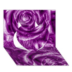 Gorgeous Roses,purple  Heart 3D Greeting Card (7x5)