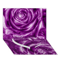 Gorgeous Roses,purple  Heart Bottom 3D Greeting Card (7x5)