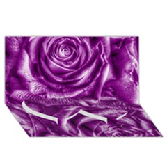 Gorgeous Roses,purple  Twin Heart Bottom 3D Greeting Card (8x4)